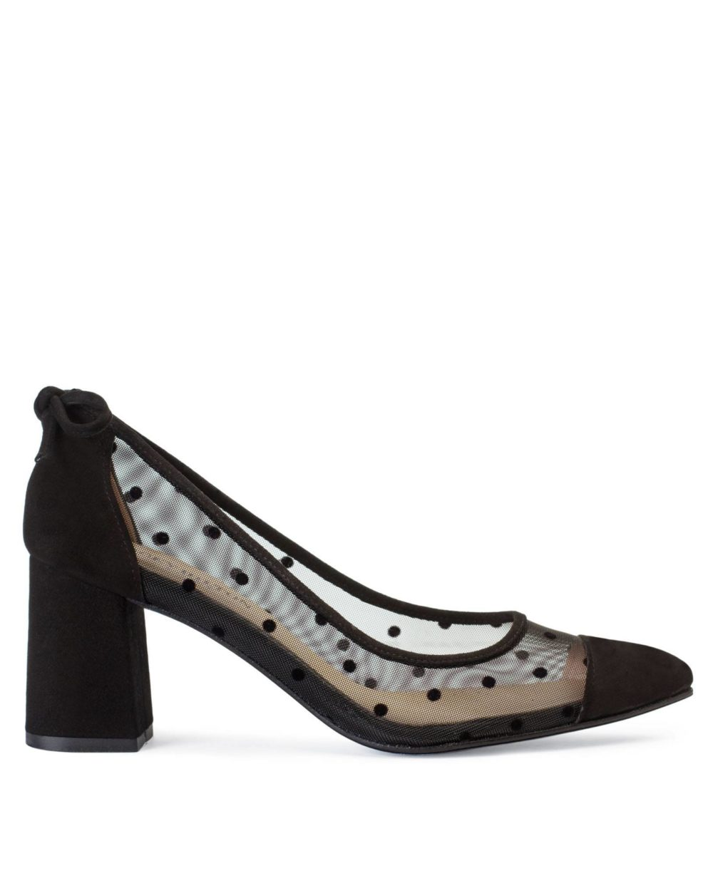Holly Black Polka Dot-Suede P