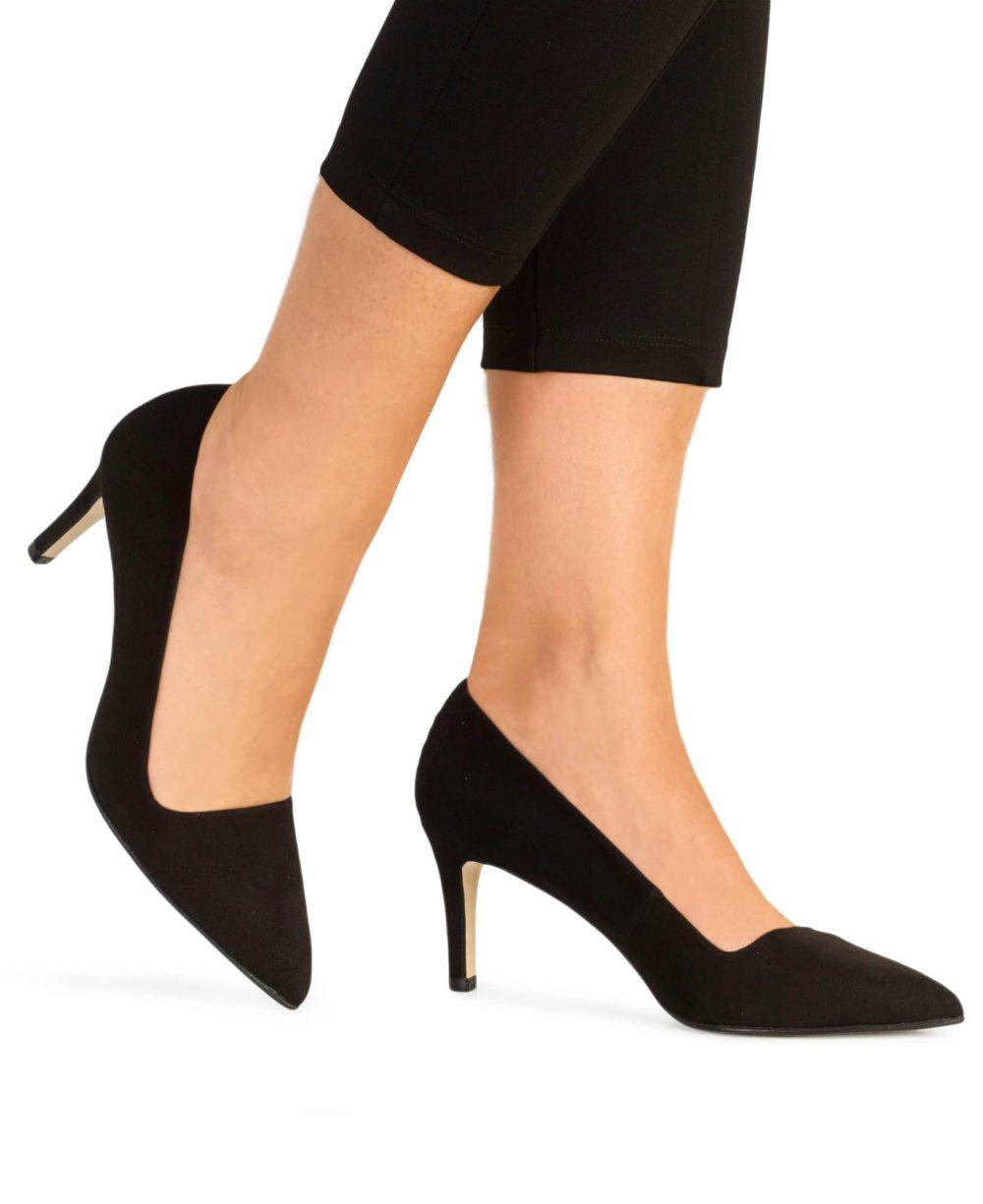 Zapatos de piel Paco Gil. P-3192 Black Suede Piernas