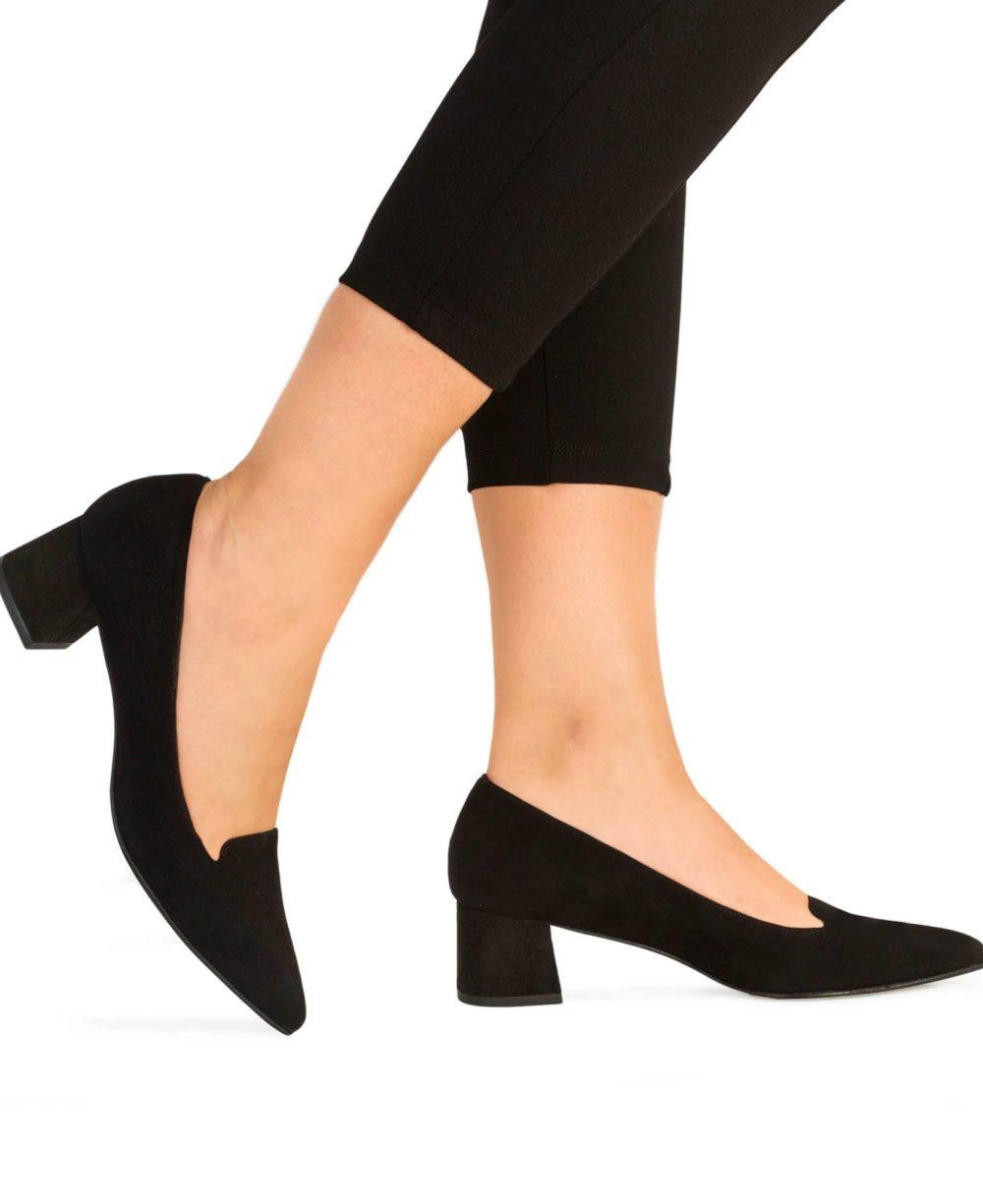 Zapatos de piel Paco Gil. P-3418X Black Suede Piernas