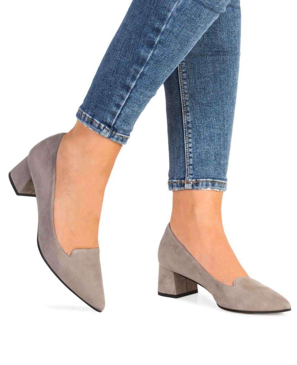 Zapatos de piel Paco Gil. P-3418X Topo Suede Piernas