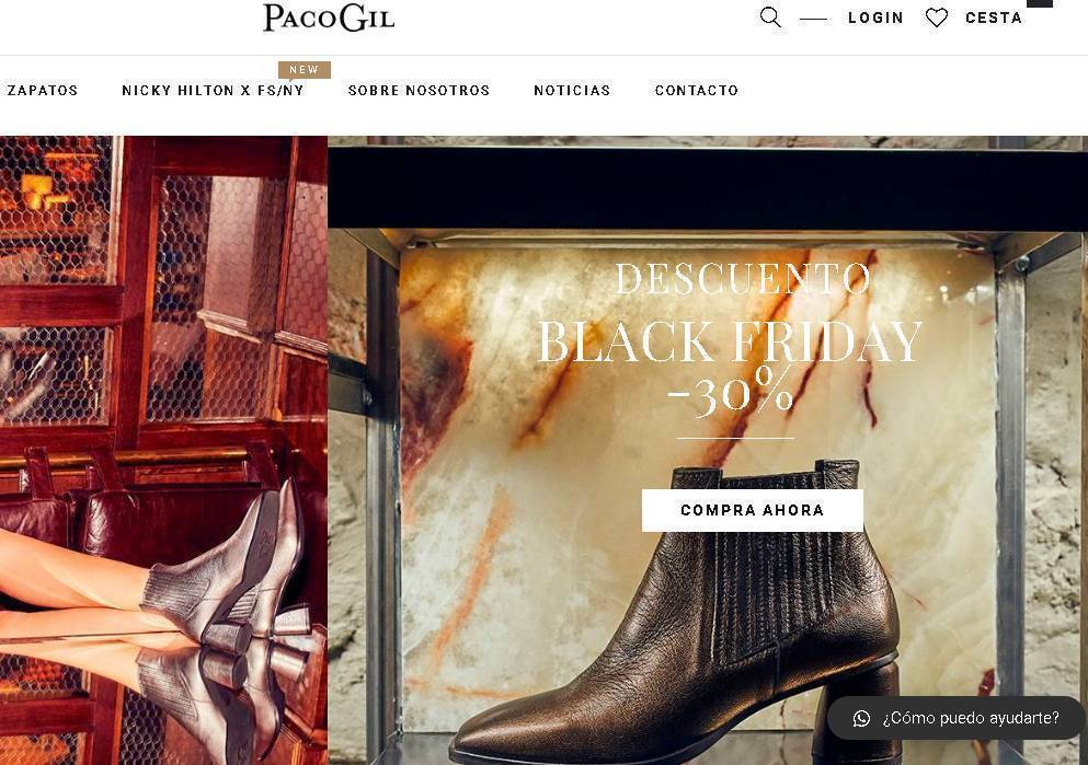 Paco Gil 30% discount on Black Friday 2019