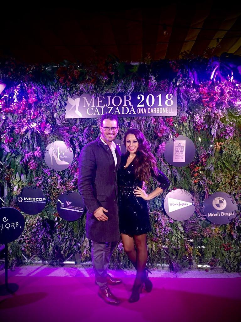 Paco Gil en la gala de Mejor Calzada de España 2018 premio a Olga Carbonell