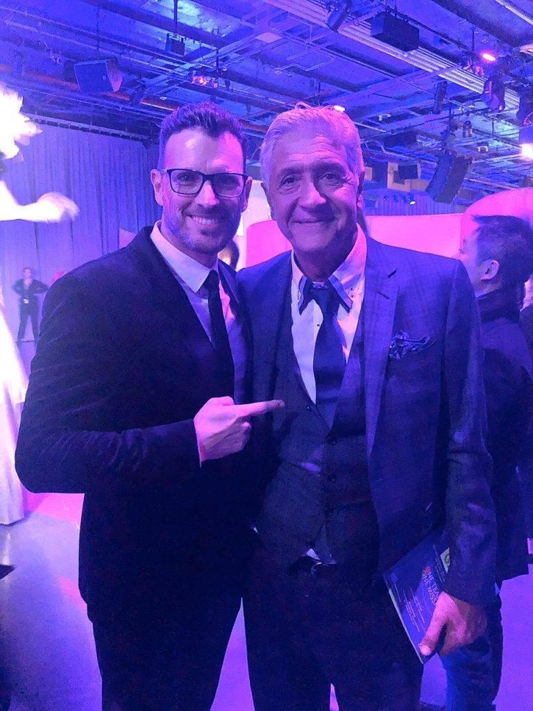 Paco Gil junto a Joe Ouaknine en la 80 Gala Anual de la Two Ten Footwear Foundation