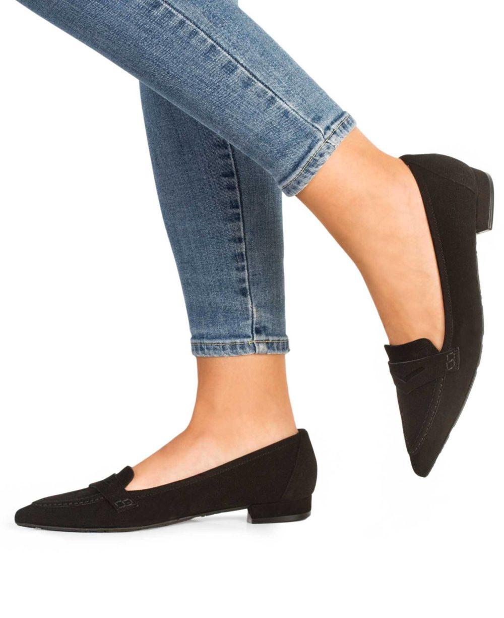 Zapatos de piel Paco Gil. P-3776X Black Suede Piernas