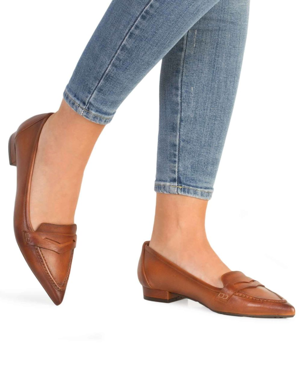Zapatos de piel Paco Gil. P-3776X Tostado Napa Oily Piernas