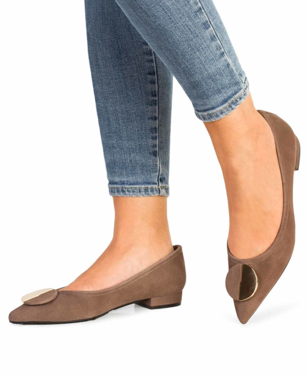 Leather Shoes Paco Gil. P-3890 Topo Suede Piernas