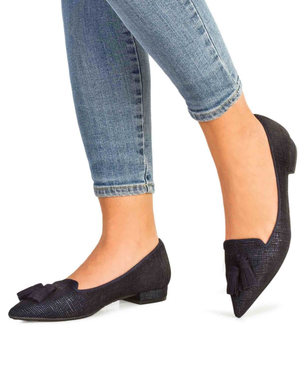 Zapatos de piel Paco Gil. P-3891 Marine Templo Piernas