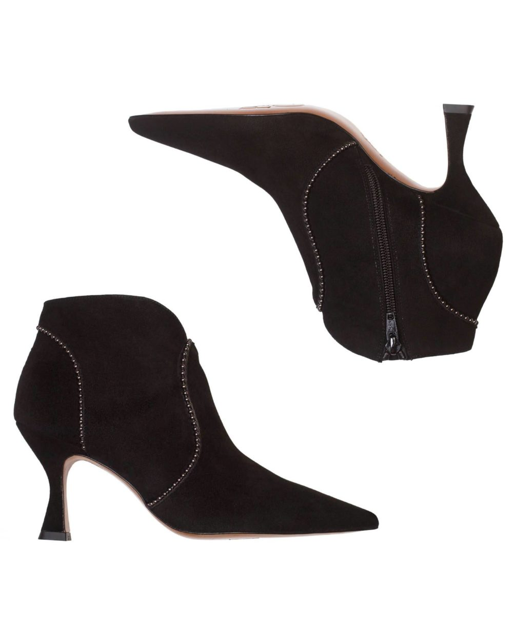 Leather Booties Paco Gil - PP-3816 Black Suede C