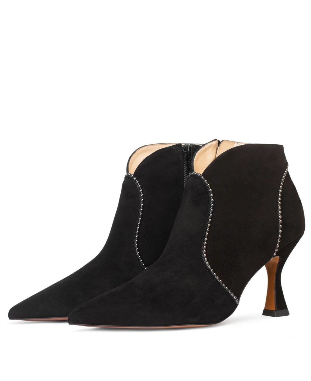 Leather Booties Paco Gil - PP-3816 Black Suede D