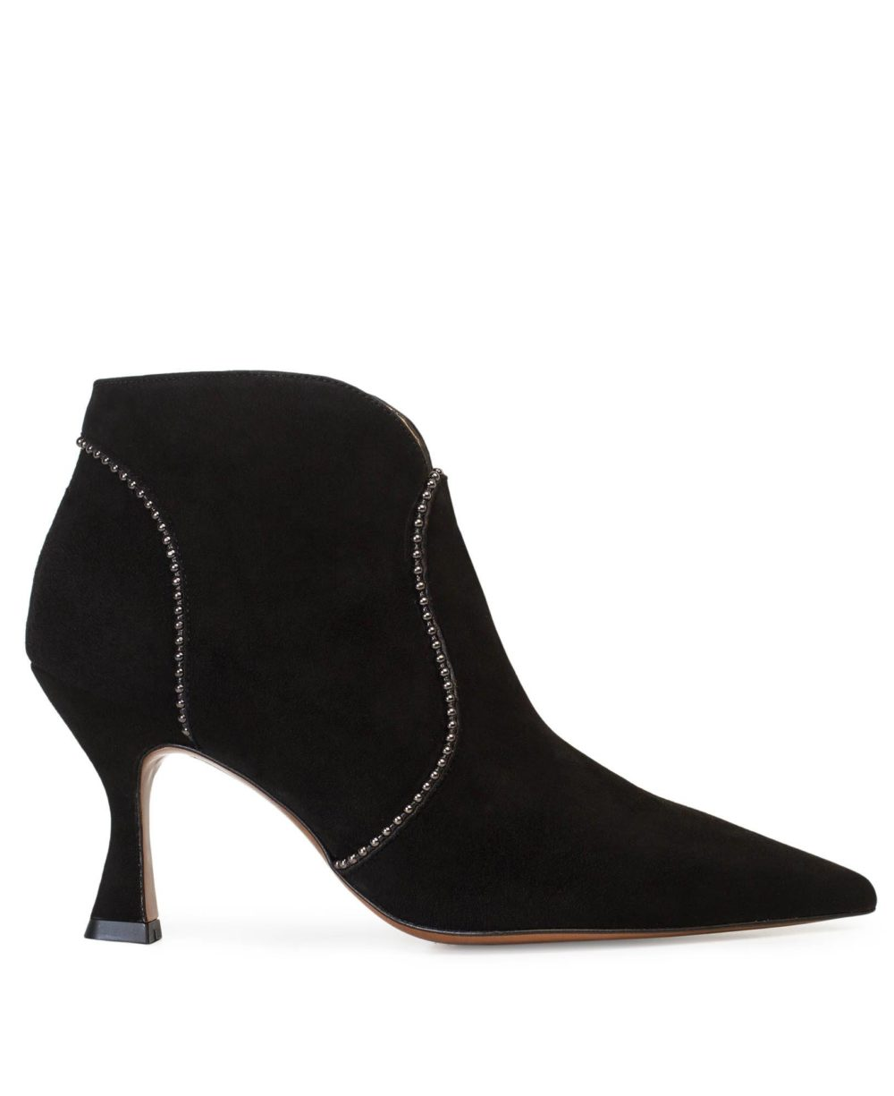 Leather Booties Paco Gil - P-3816 Black Suede P