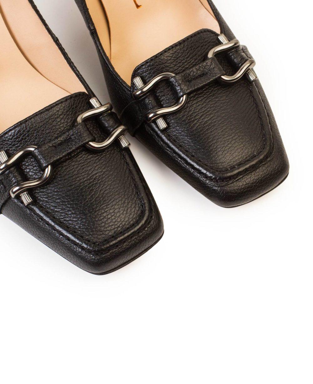 Zapatos de piel Paco GIl - P-3871 Black Bufalo Detalle