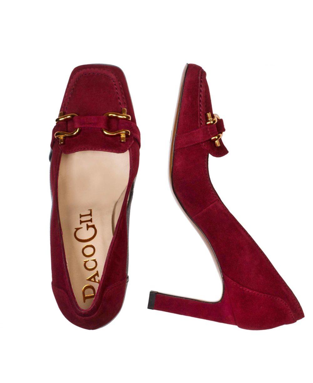 Zapatos de piel Paco Gil -P-3871 Wine Suede C