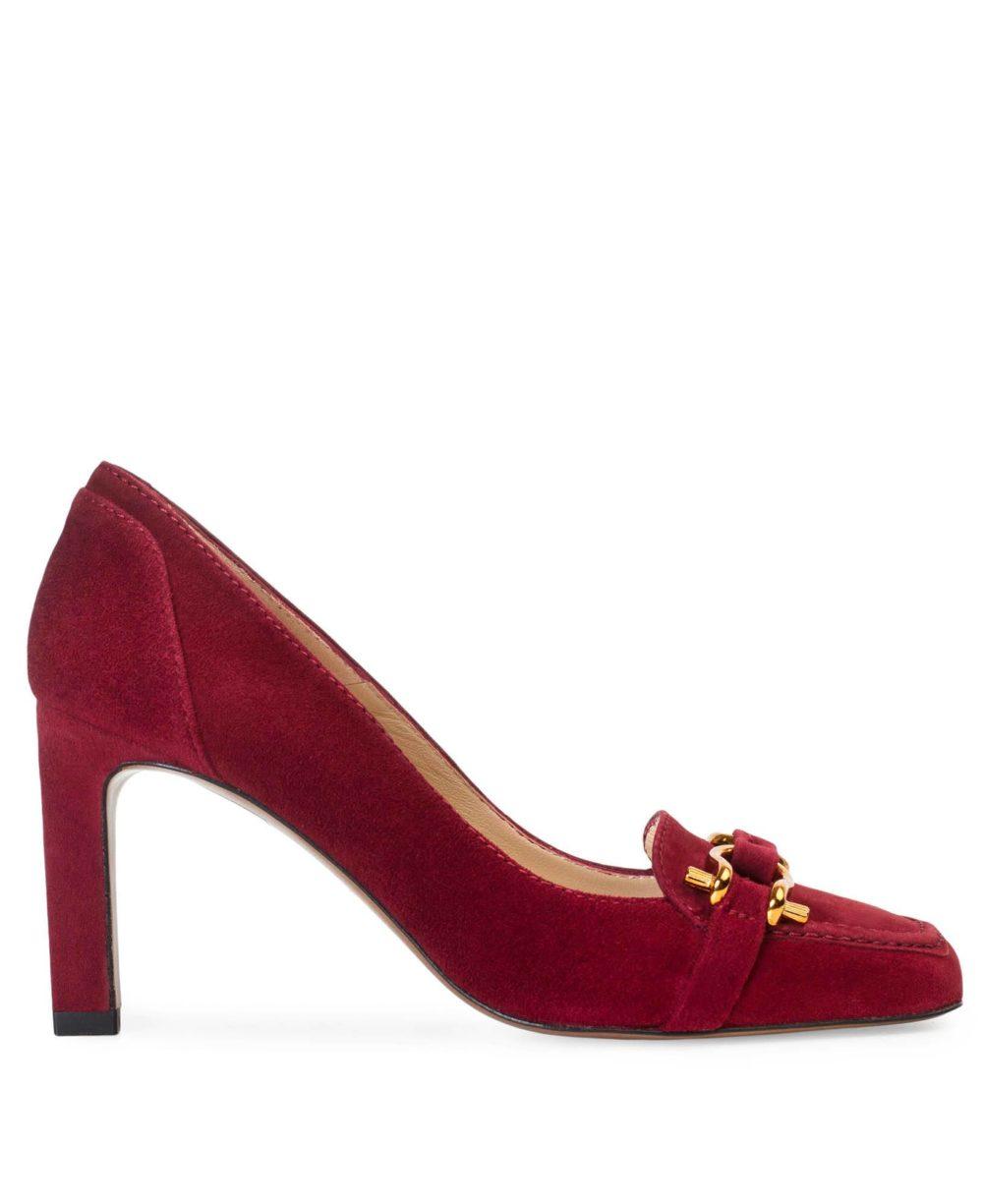 Zapatos de piel Paco Gil -P-3871 Wine Suede P