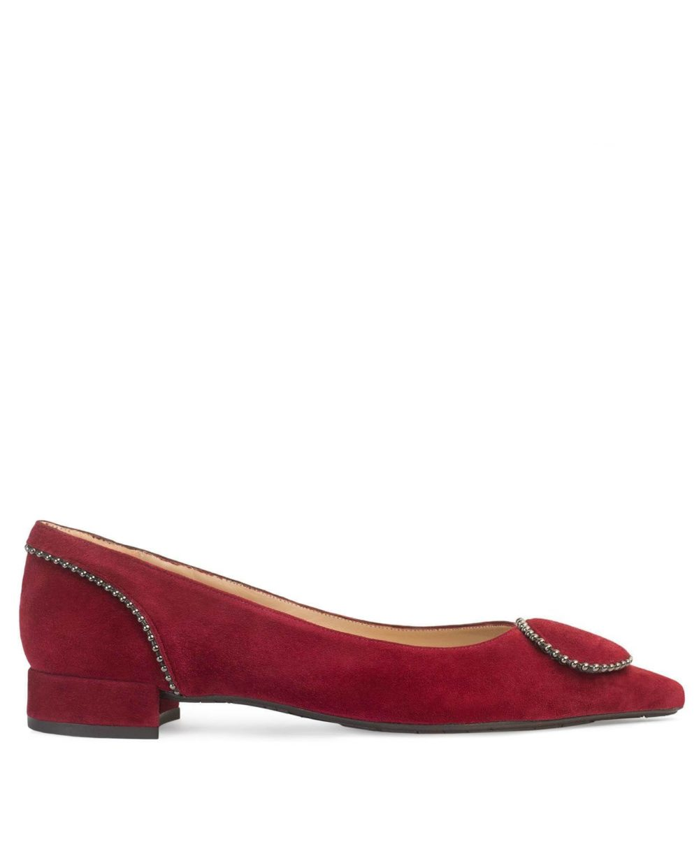 Zapatos de piel para Mujer Paco Gil. P-3814 MERCHE/WINE SUEDE