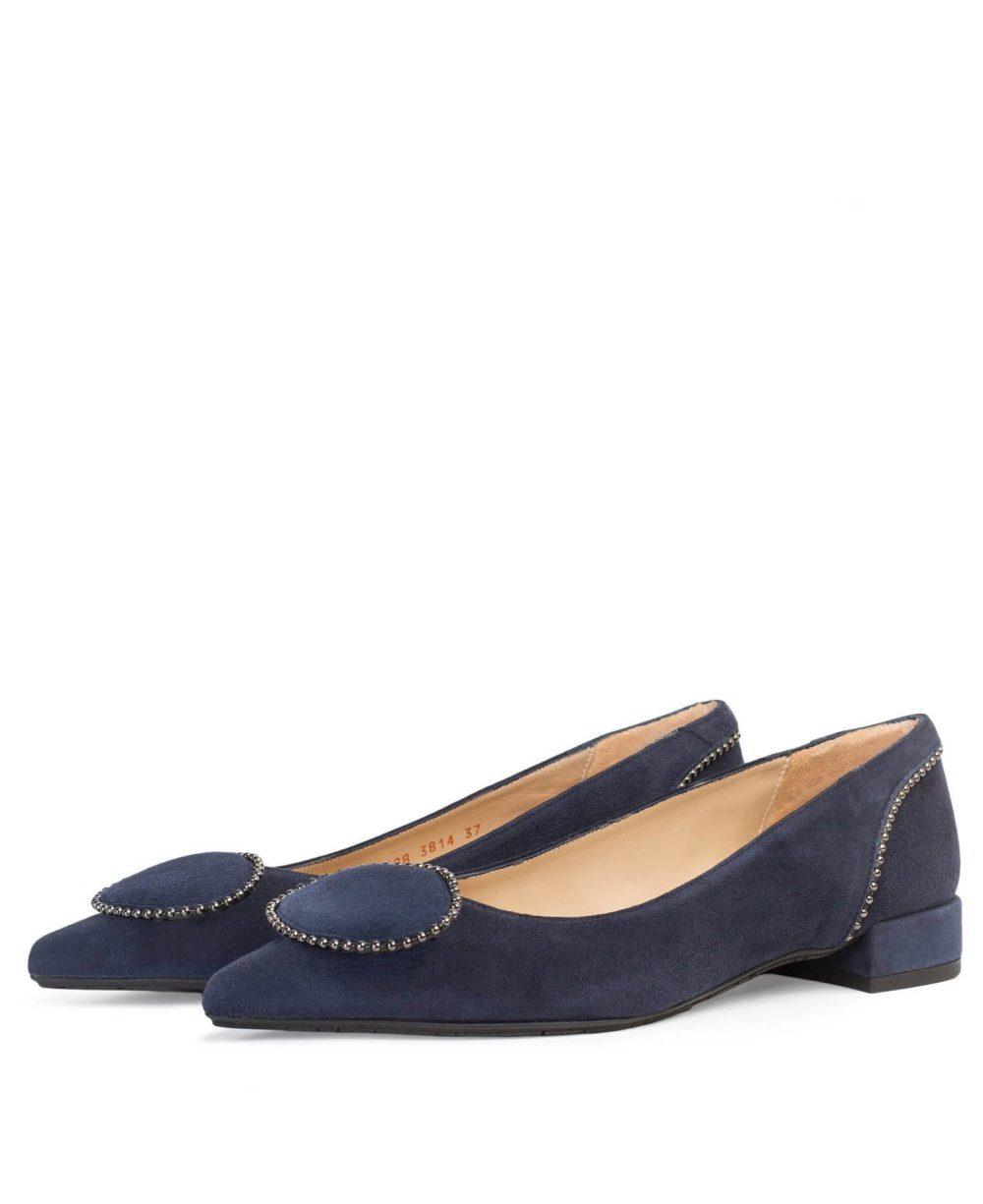 Zapatos de Piel Paco Gil P-3814 MERCHE/MARINE SUEDE