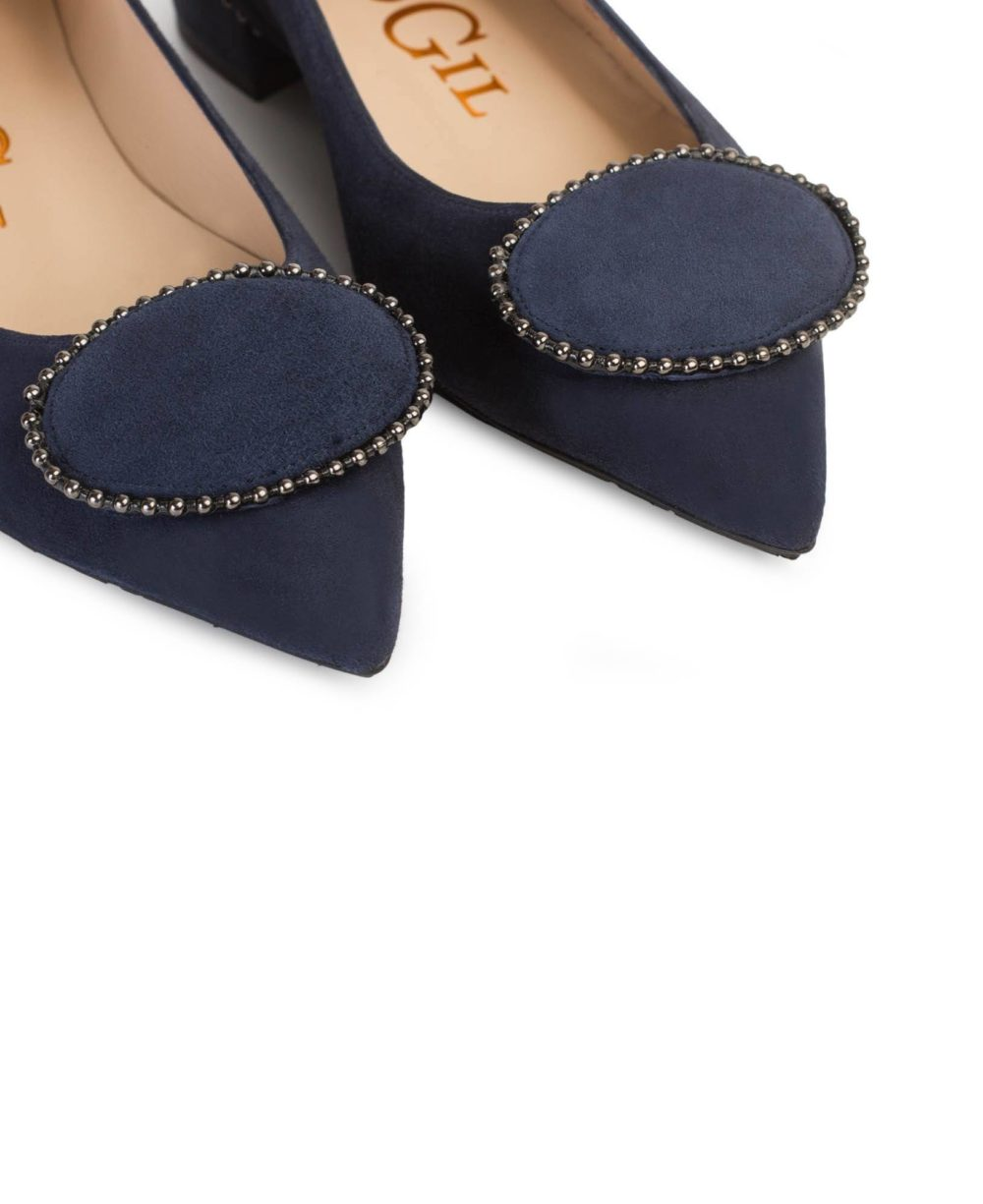 Leather Shoes Paco Gil P-3814 MERCHE/MARINE SUEDE