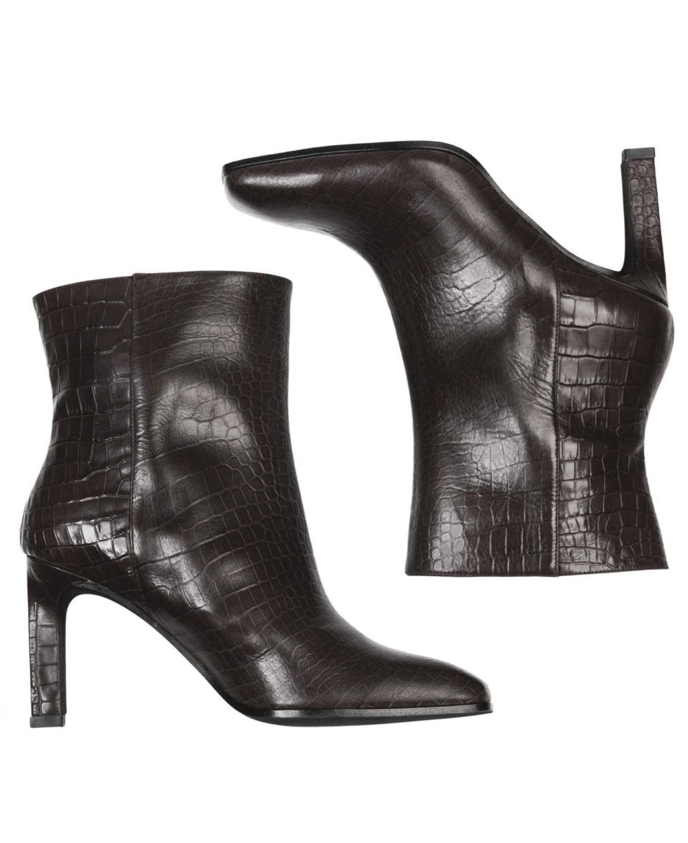 Leather booties Paco Gil  P-3888 Black Coco  C