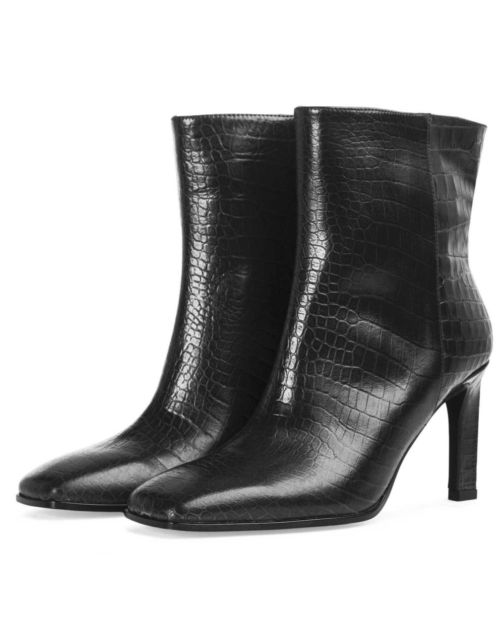 Leather booties Paco Gil  P-3888 Black Coco  D