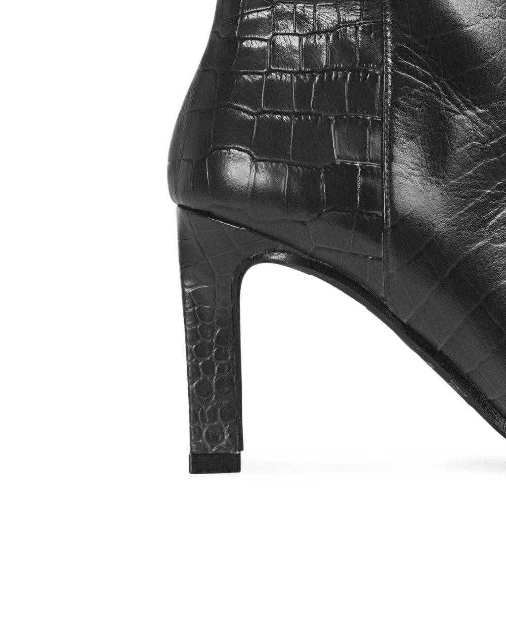 Leather booties Paco Gil P-3888 Black Coco Detalle
