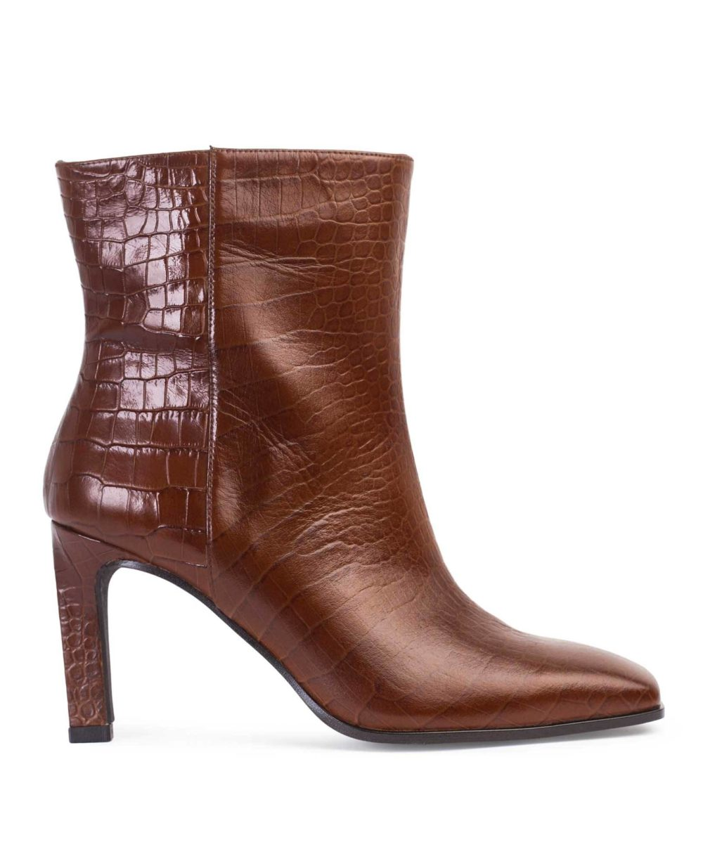 Leather Bootie Paco Gil - P-3888 URSULA/TAUPE CROCO