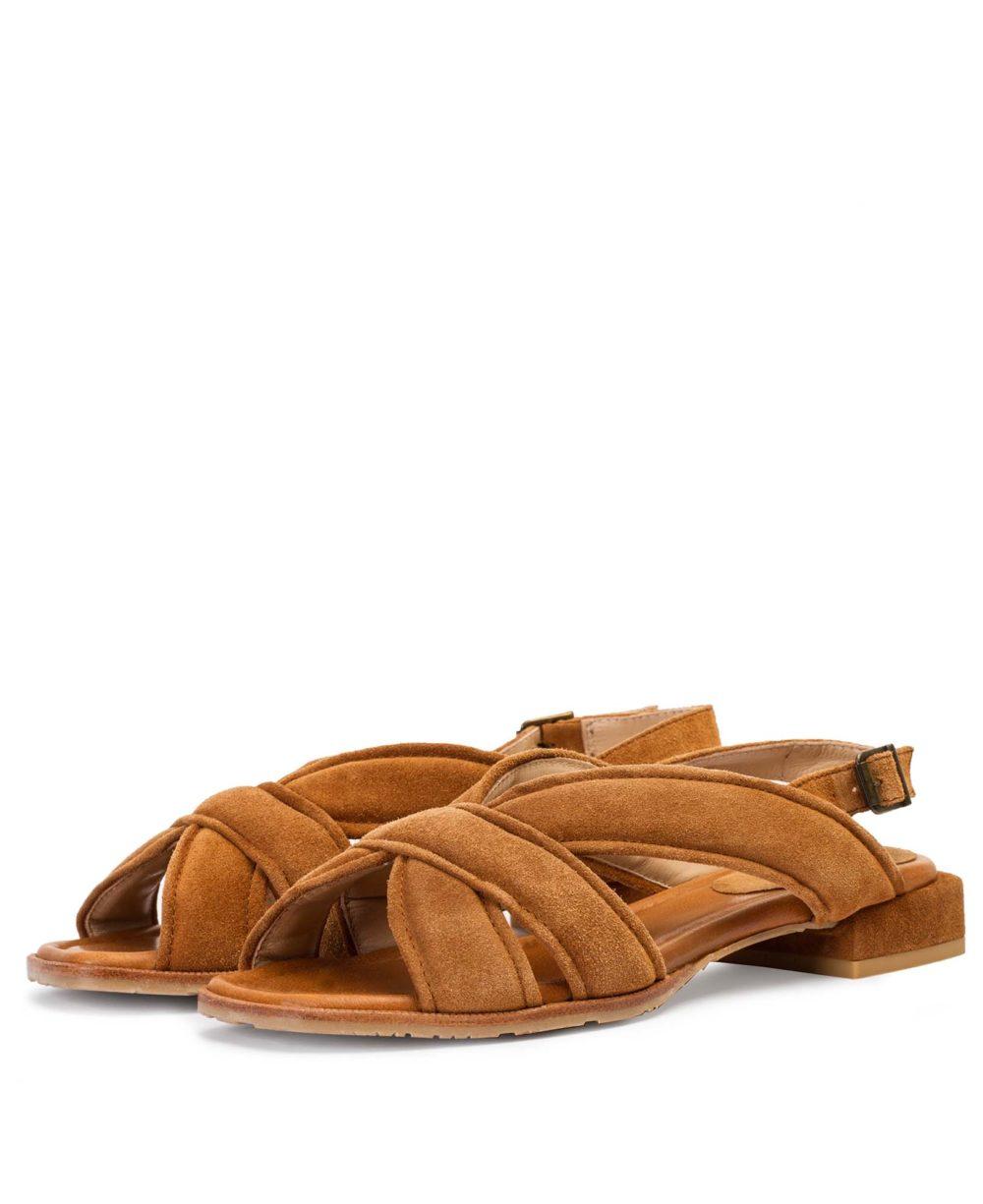 Sandalias de Piel Paco Gil - P-3917 Cuoio Velour