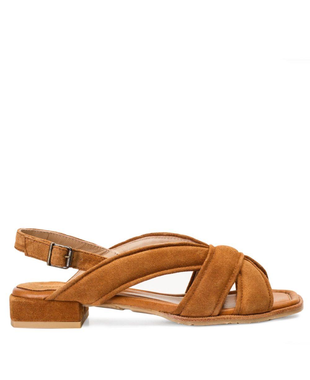 Sandalias de Piel Paco Gil - P-3917 Cuoio Velour P