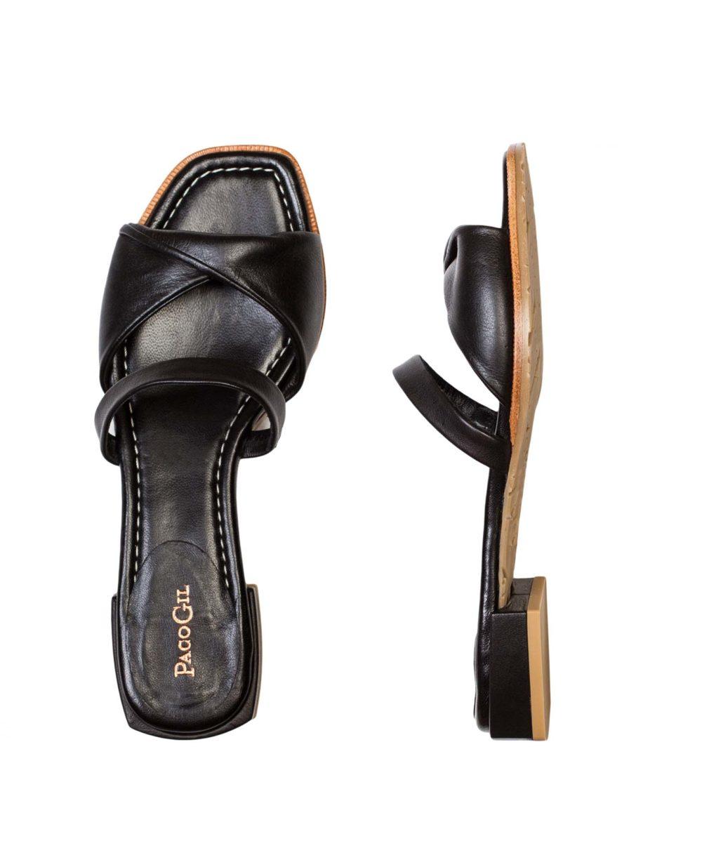 Sandalias de Piel Paco Gil P-3925 Black Bravo C1